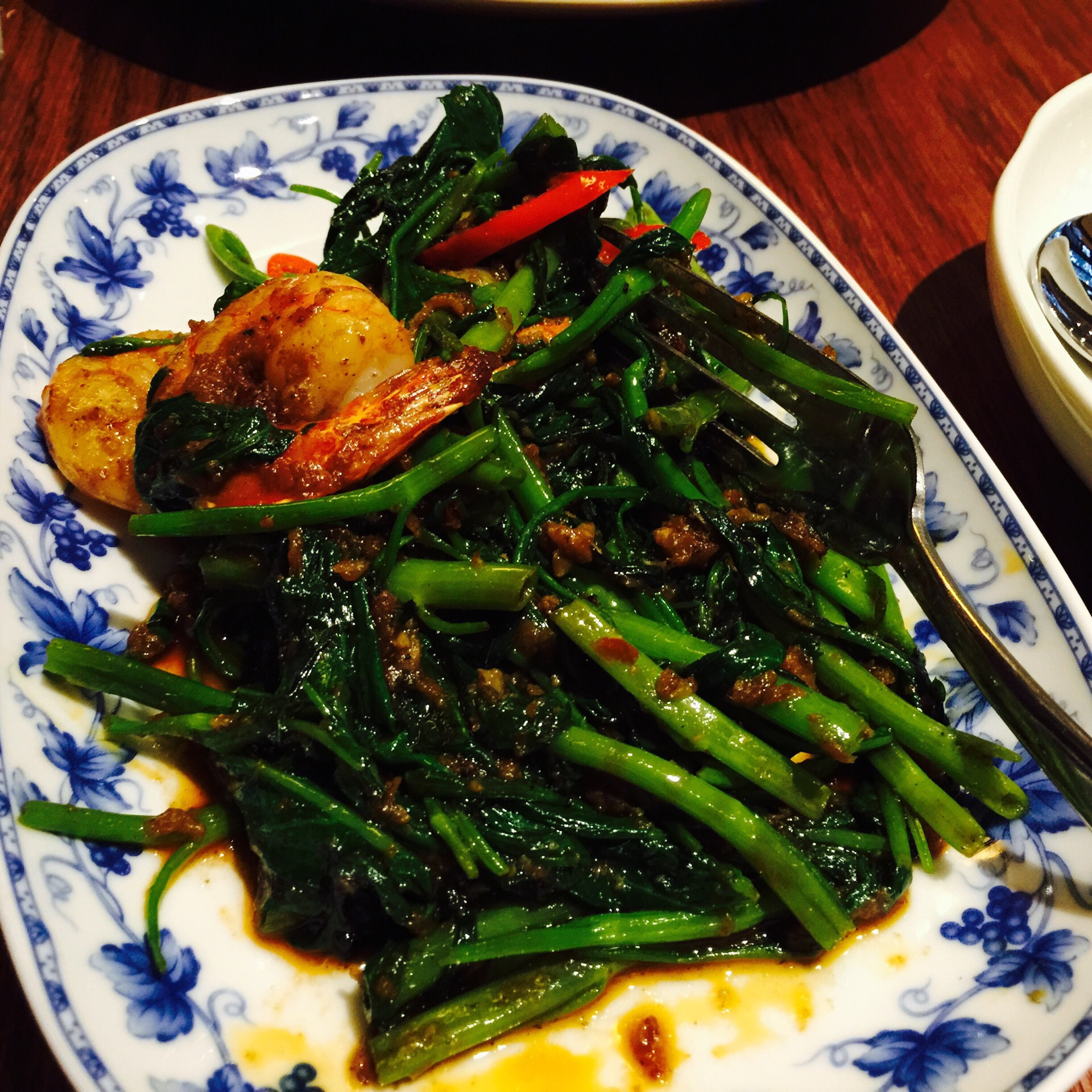 Spicy water spinach
