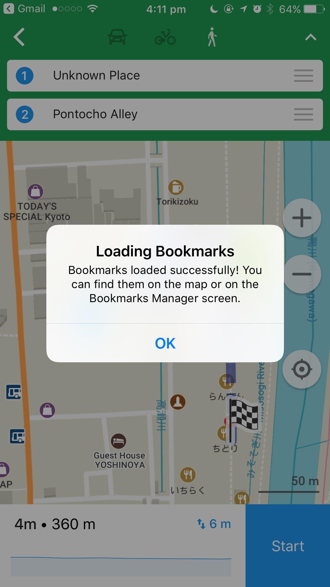 iOS Maps.Me App import