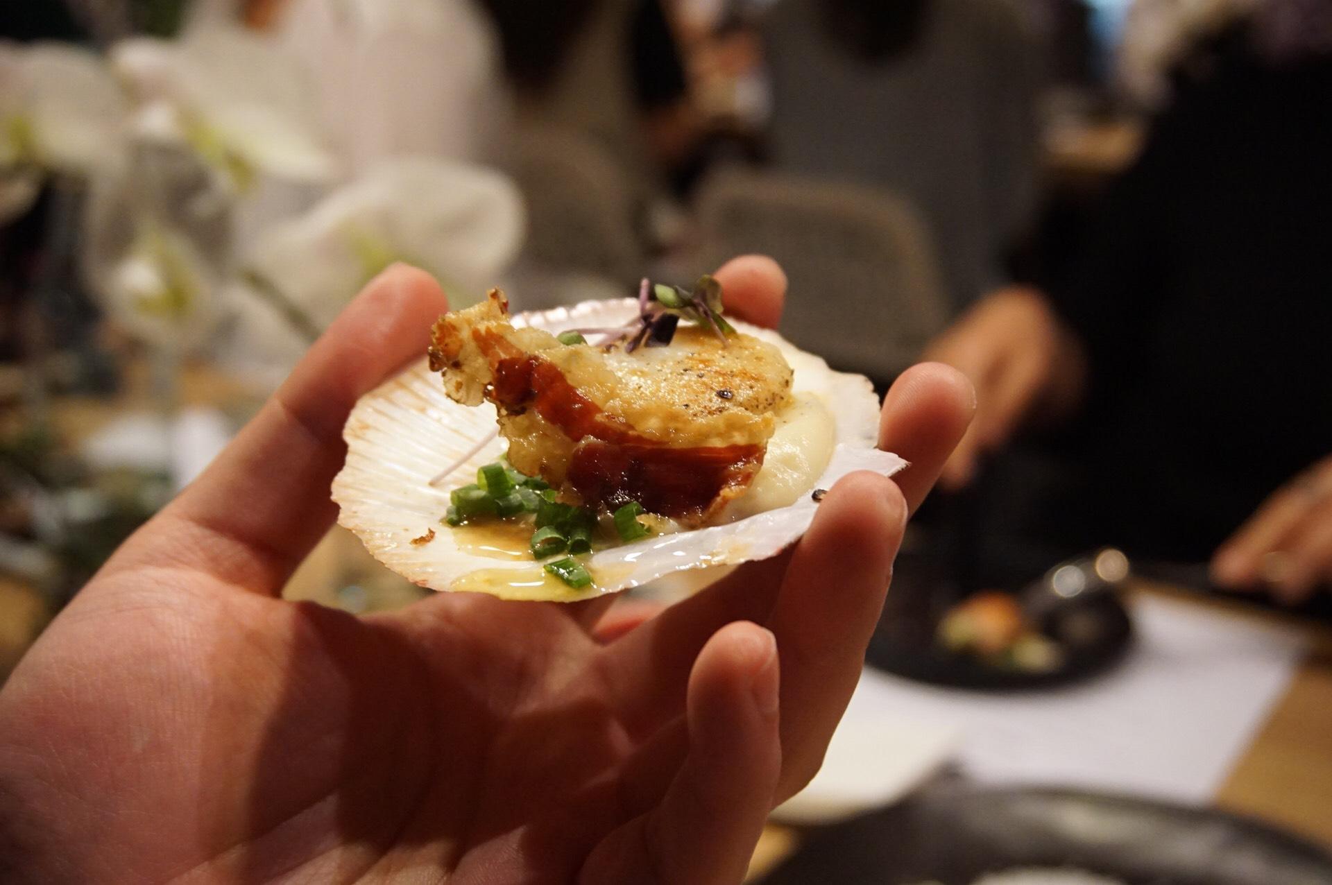Grilled Australian sea scallops