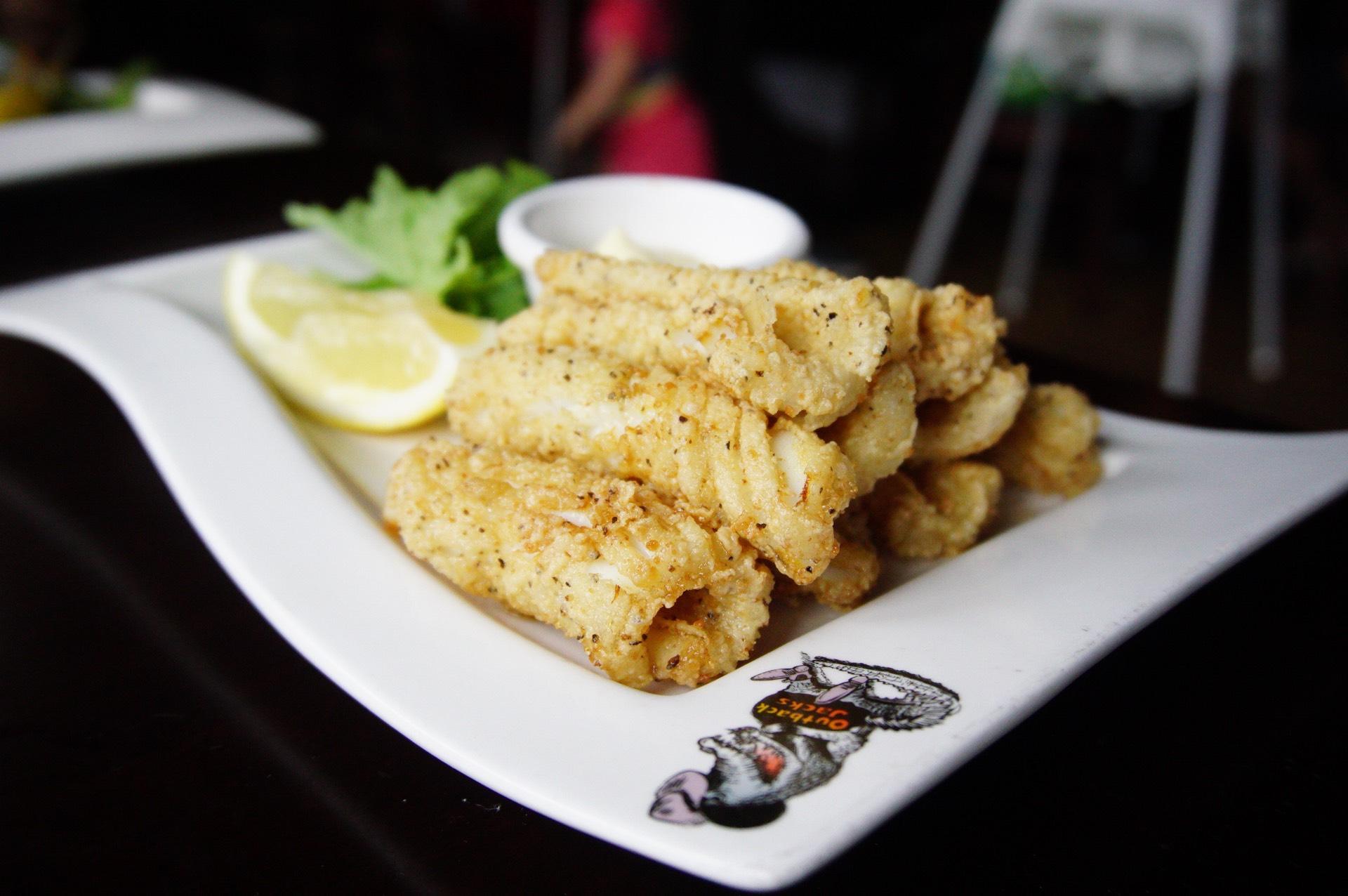 Spiced Calamari (yum!)