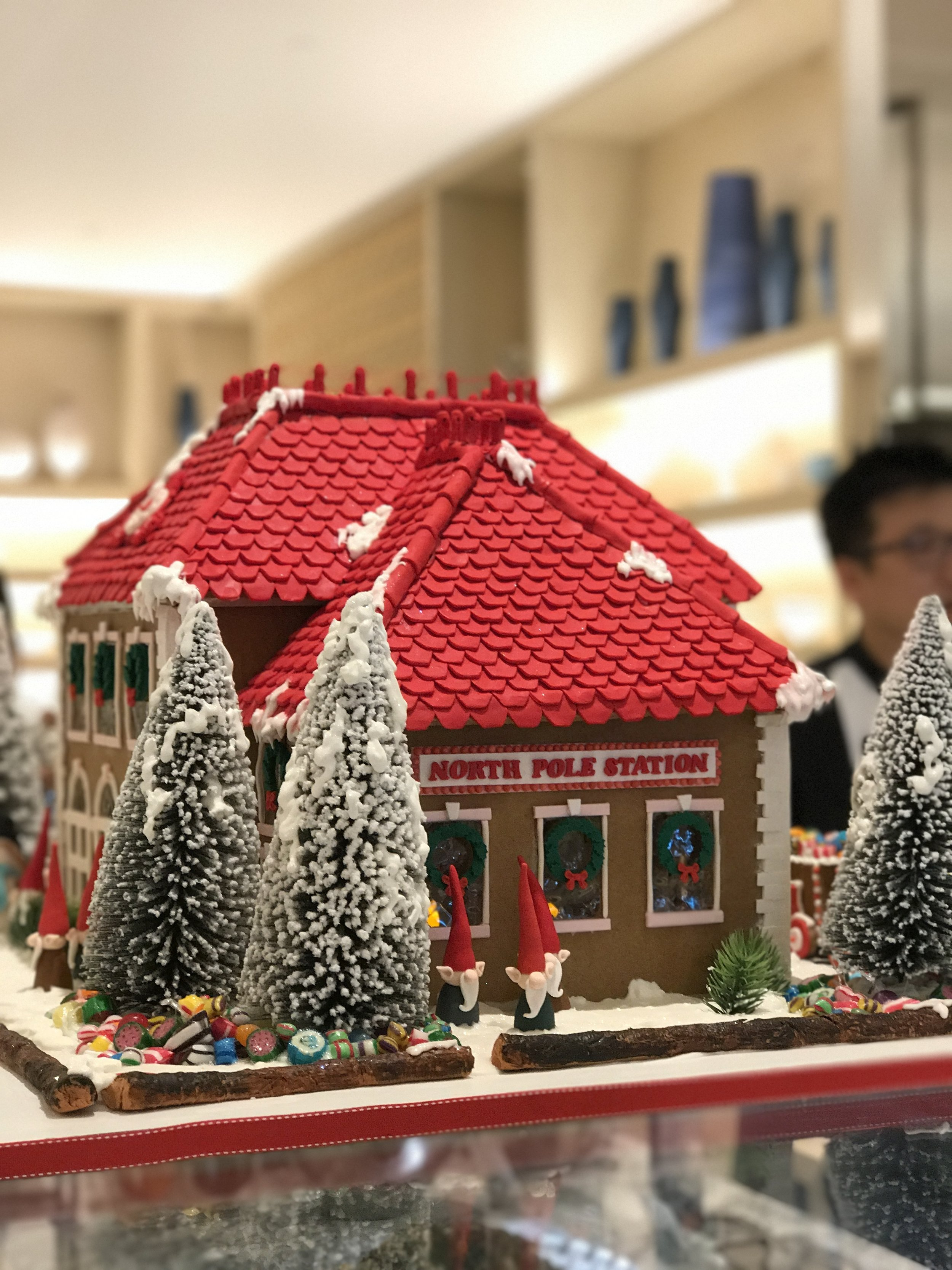Beautiful gingerbread house that can't be taken apart ;-)