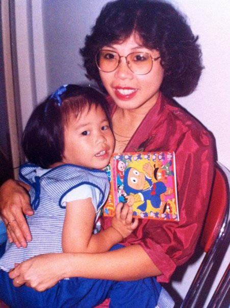 Me & Mum :-) The book that I held was Fujiko F. Fujio's Ninja Hattori-kun colouring book! :-)