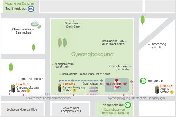 Gwanghwamun map