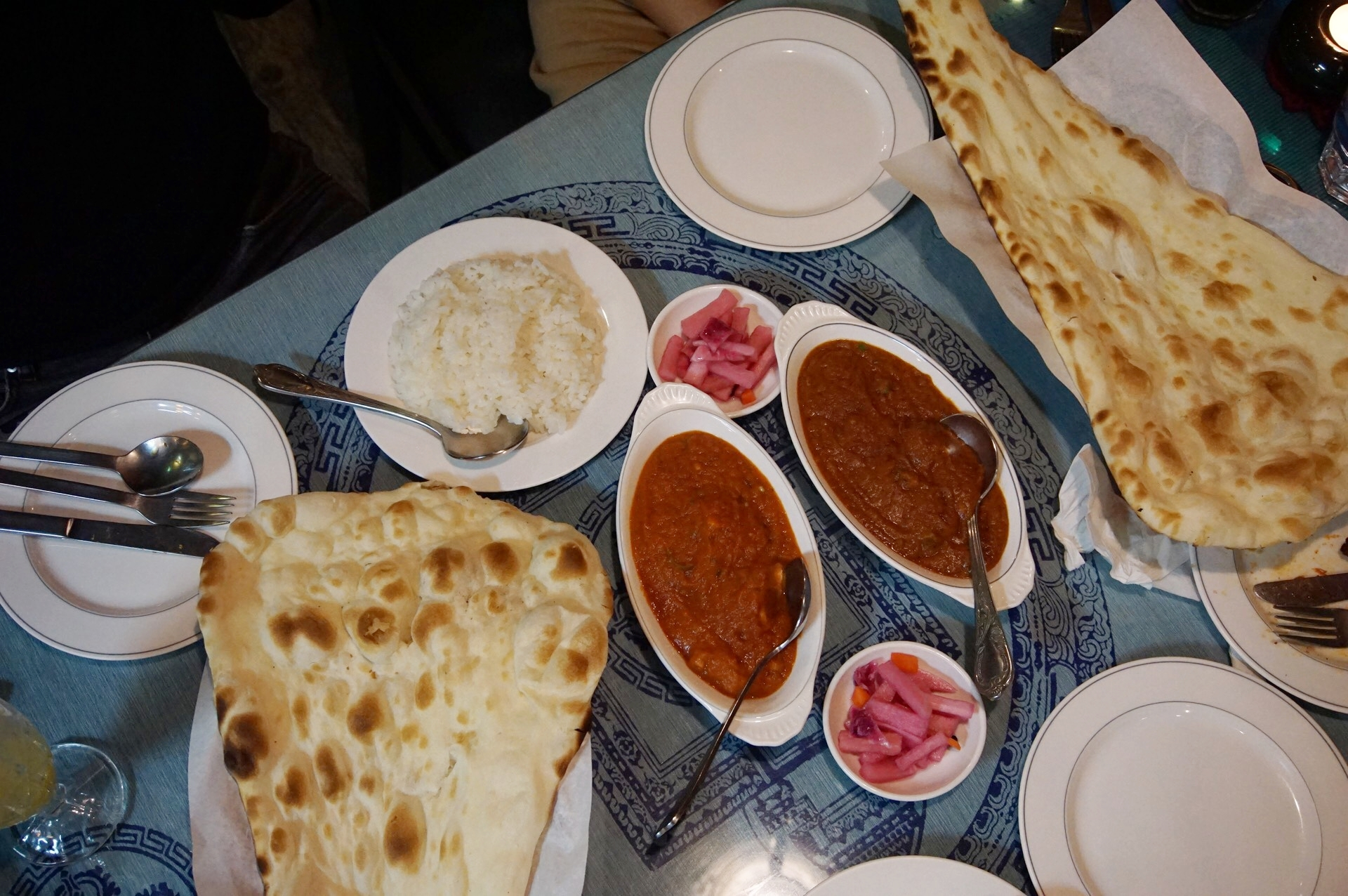 Curry Giant Naan Shanti Indian Seoul