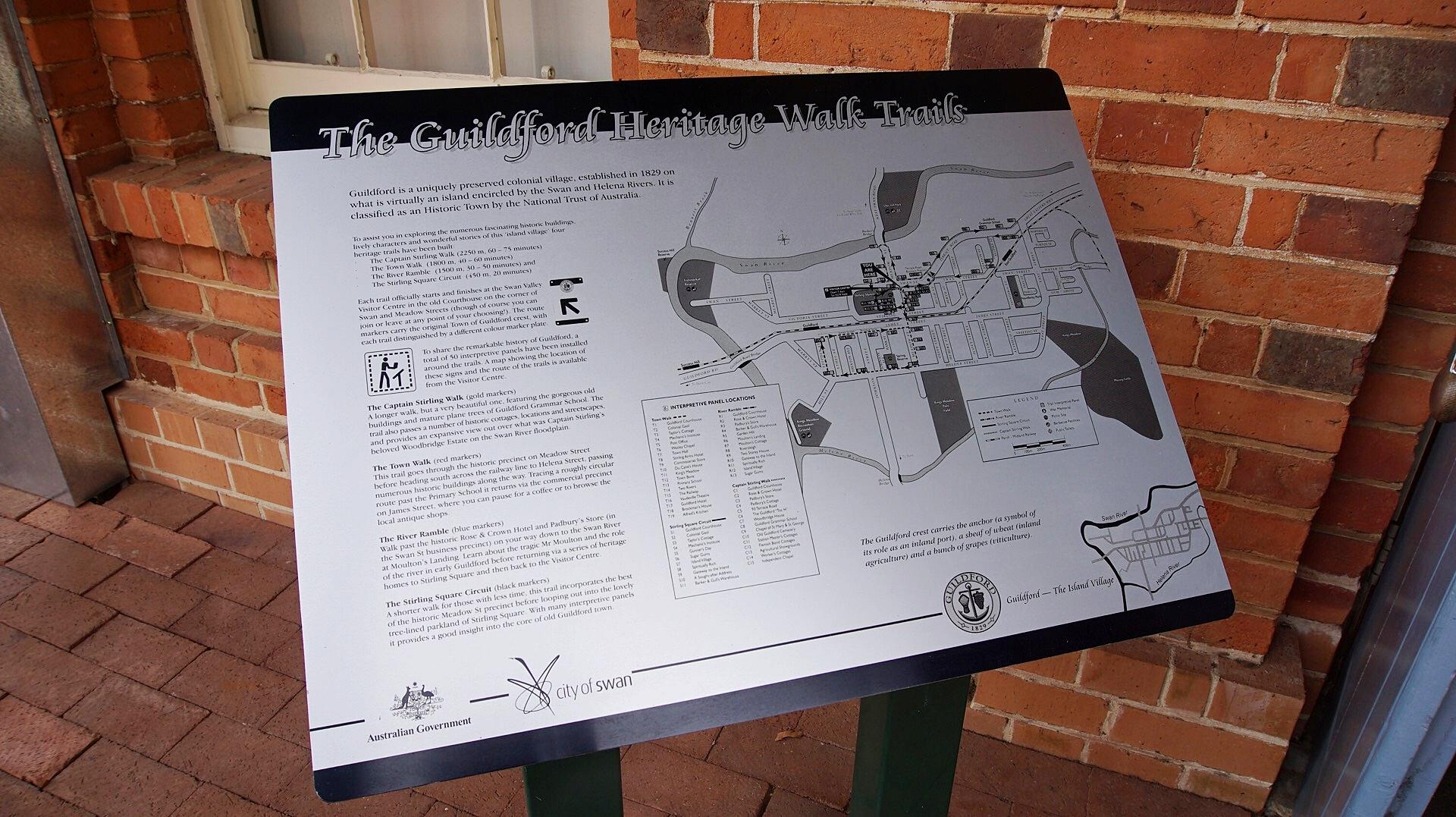 Heritage Walk Guildford Swan Valley