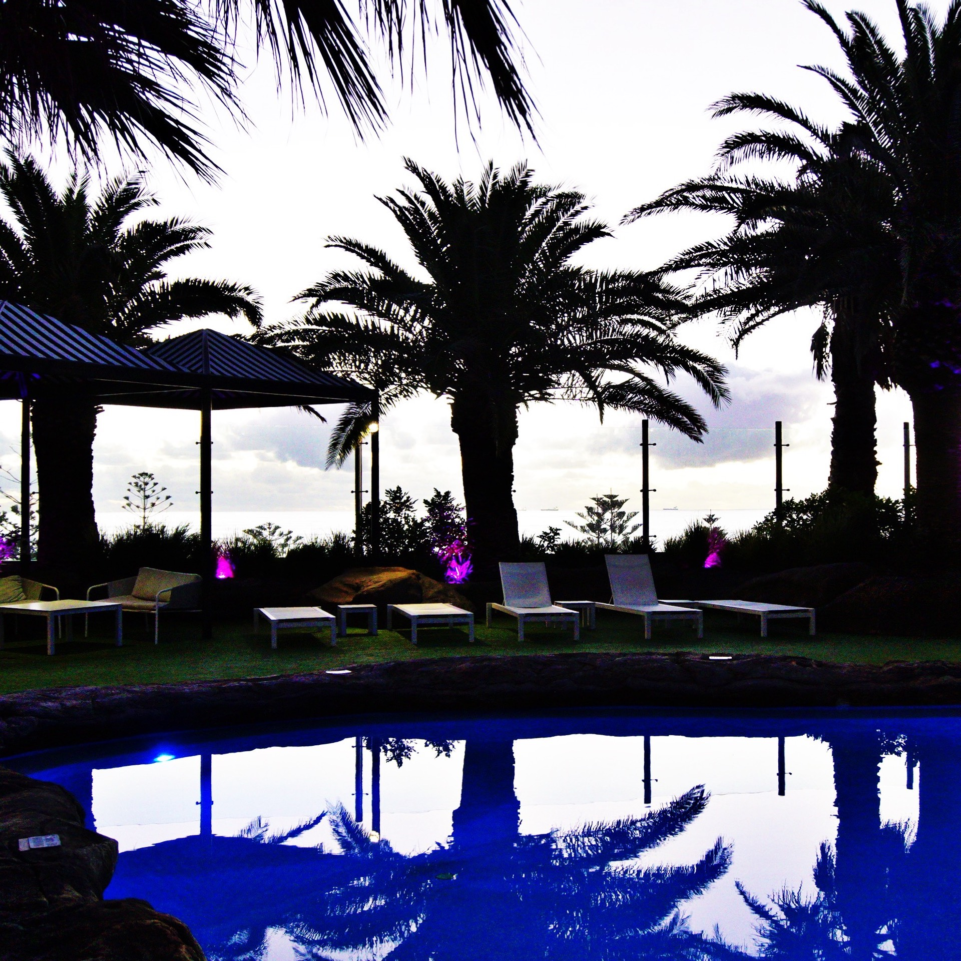Rendezvous Pool at Night