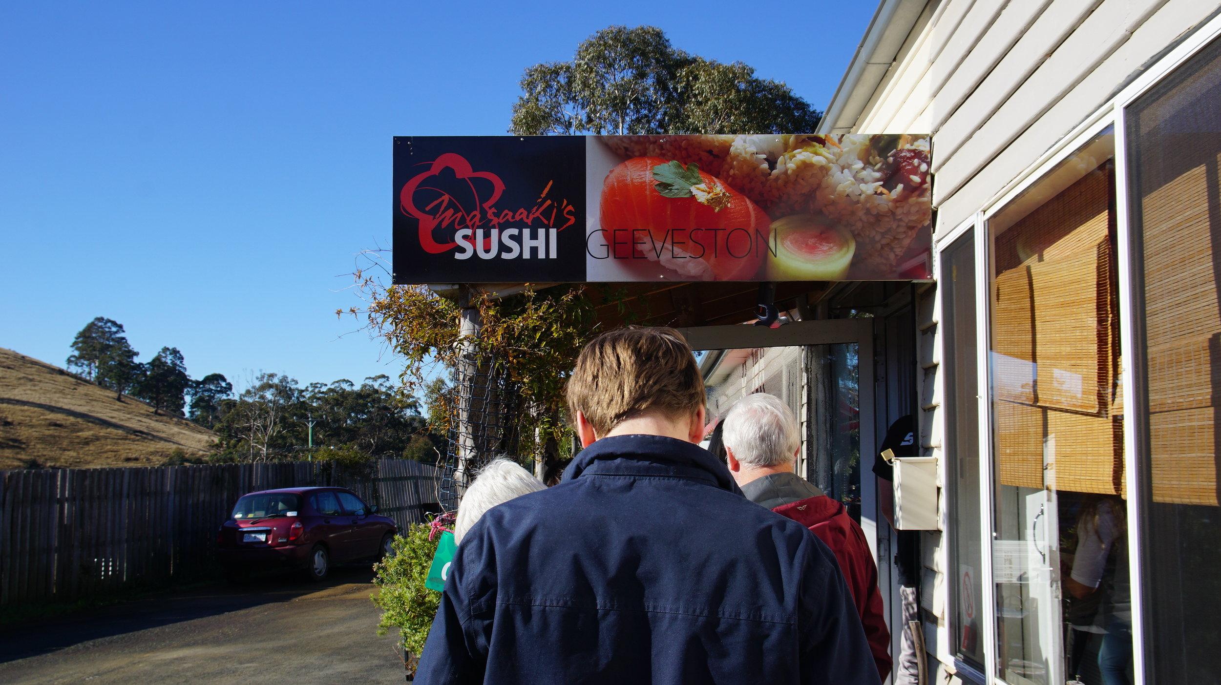 Queue at Masaaki's Sushi