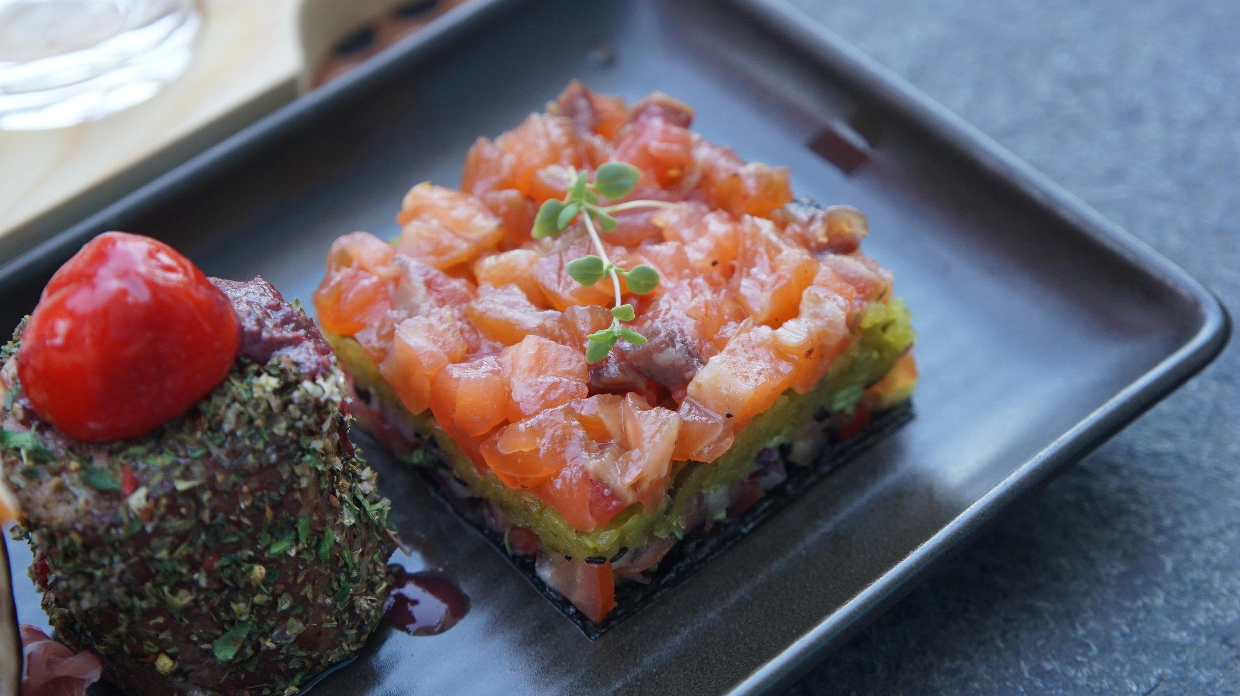 Delish Sirloin Herb and Tuna Tartare