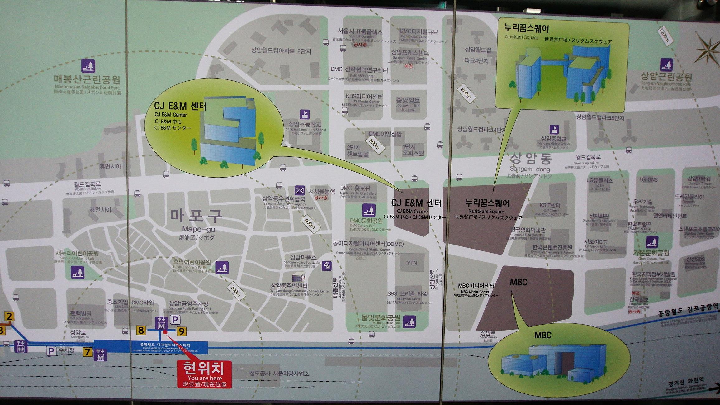 Digital Media City map