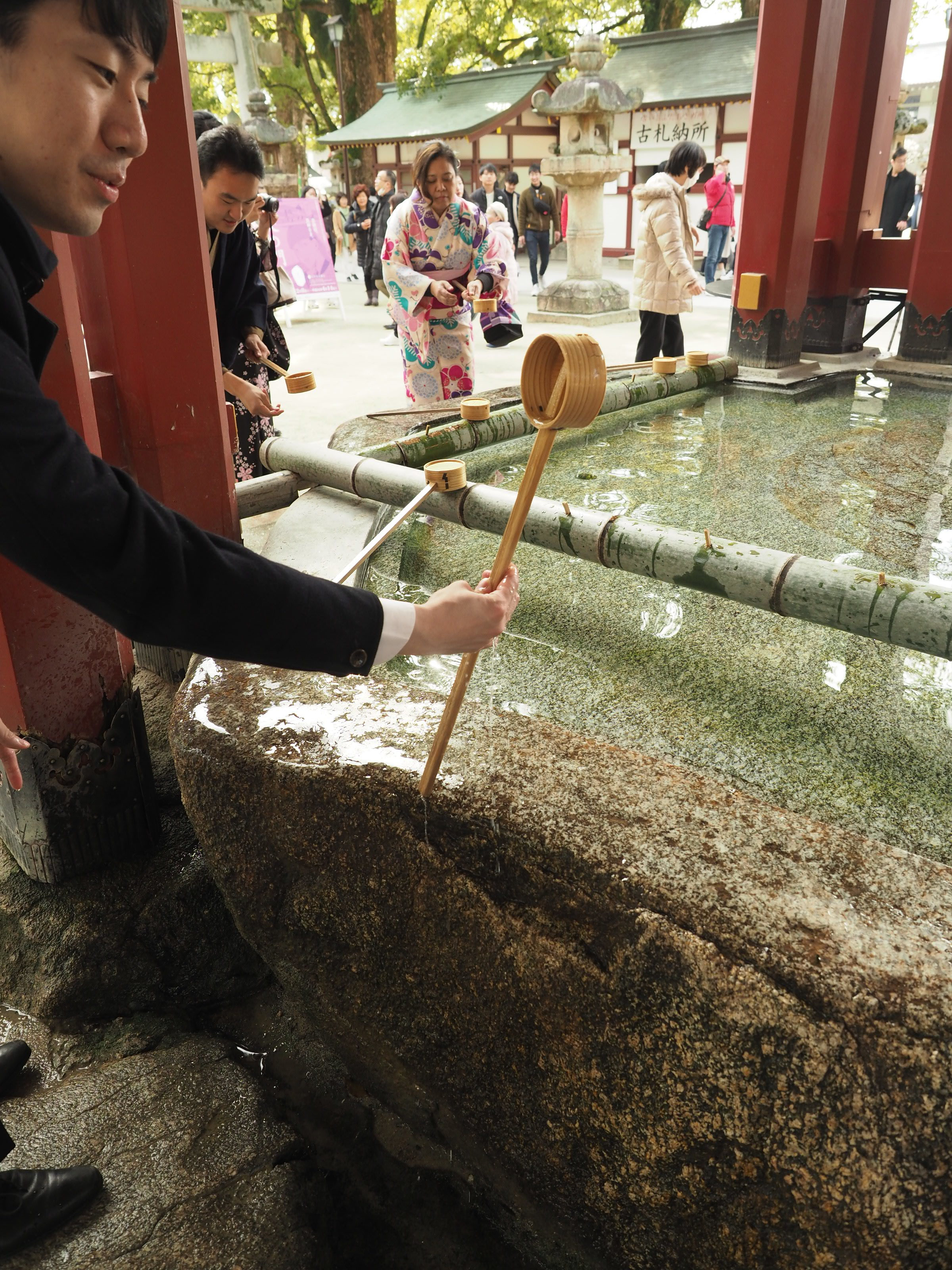 Purification Water at Shrine