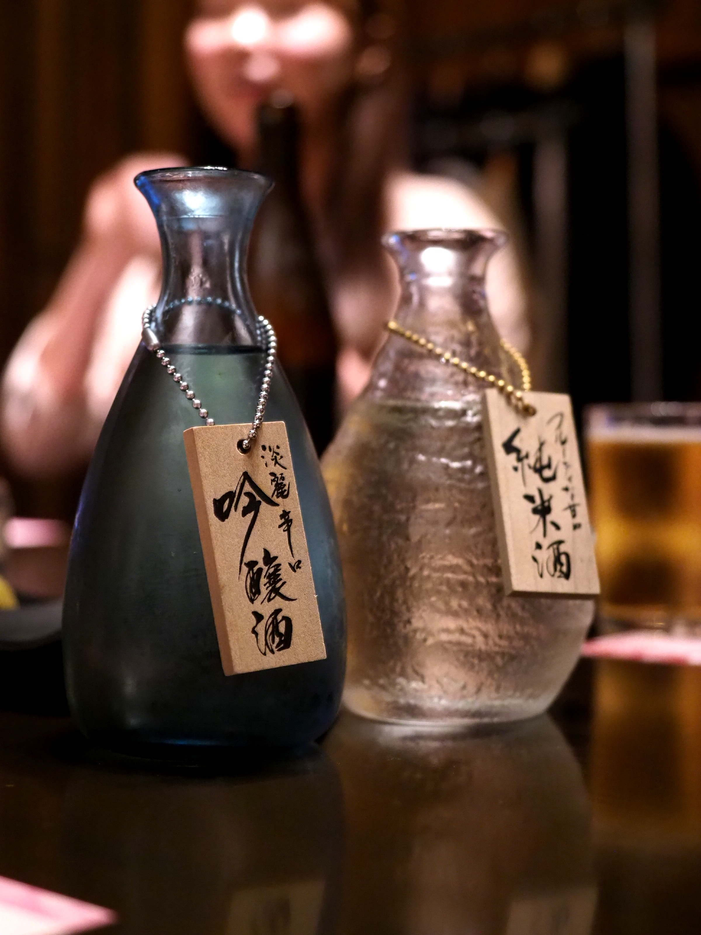 The blue sake is the best!