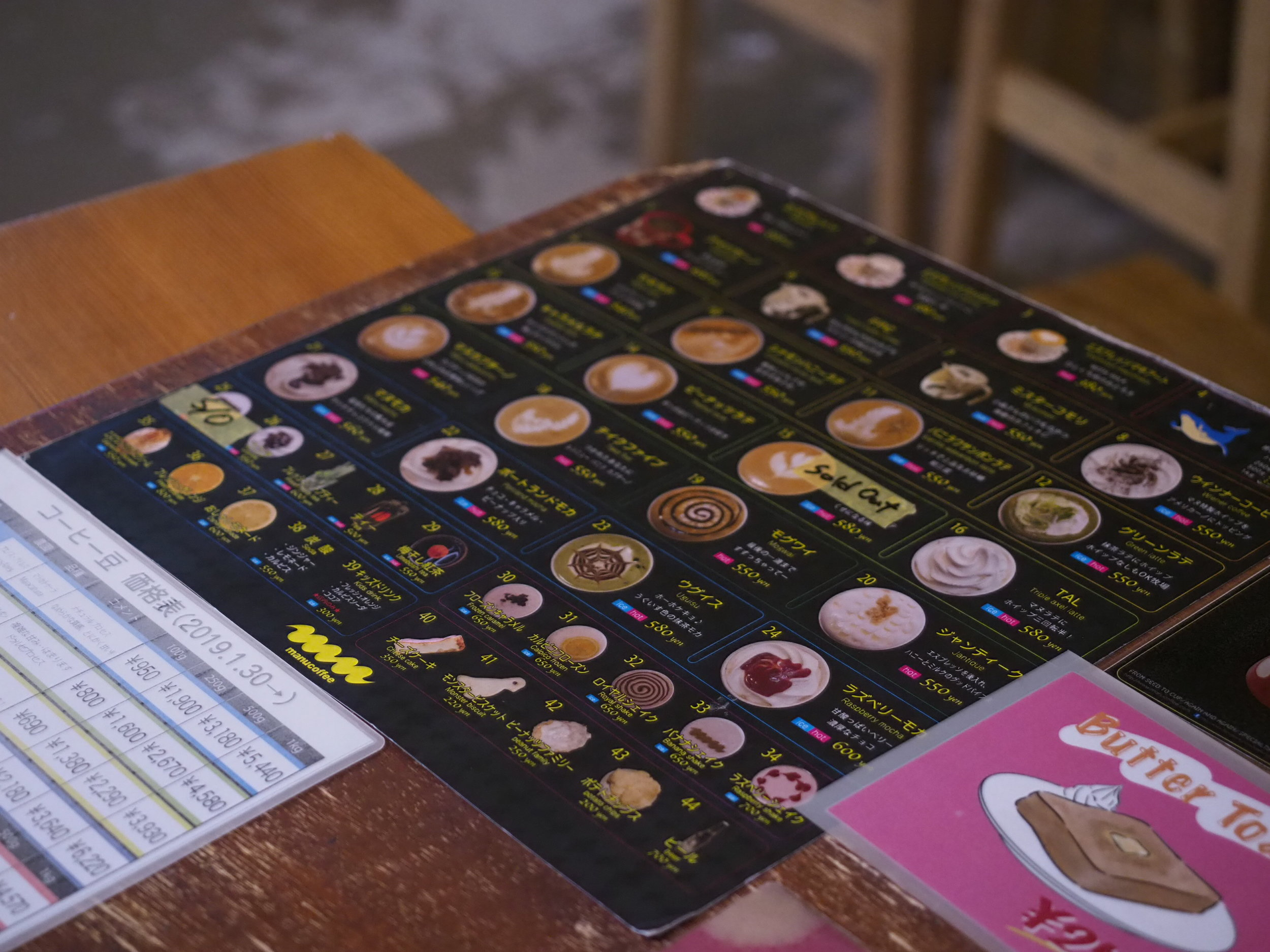 Menu is visually appealing at Manu Cafe