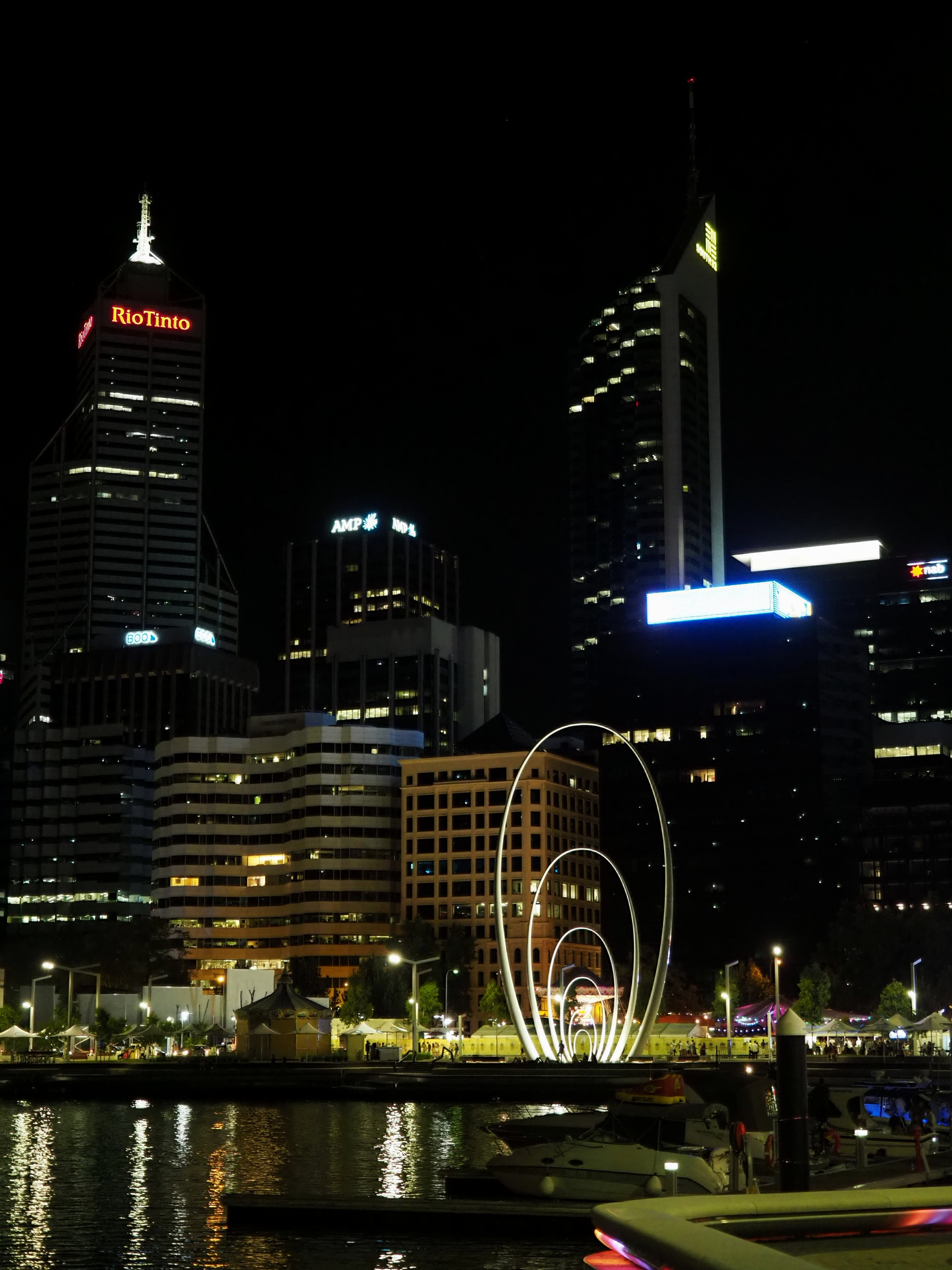 Go during the day, or capture the night ambience of Elizabeth Quay