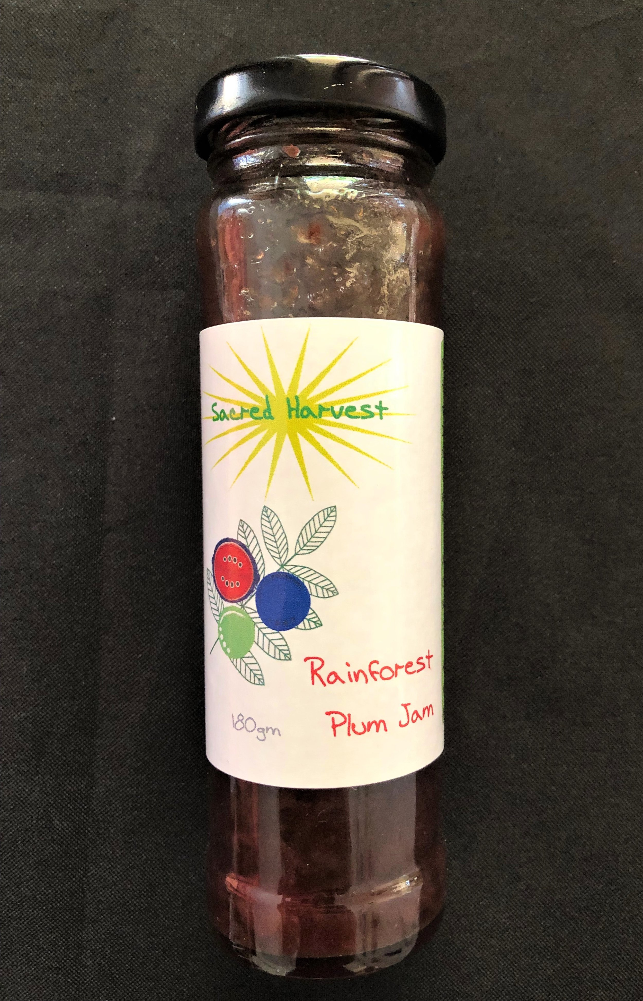 Rainforest Plum Jam - Davidson Plum Jam with a tangy profile, simply serve on toast or use with cheese or cook into sweet biscuits or pork/turkey recipes.
