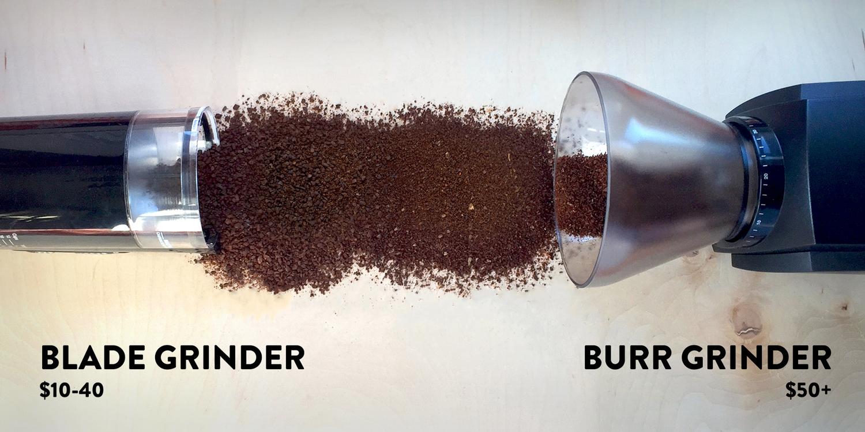 Blade Grinder $10-40 // Burr Grinder $50+