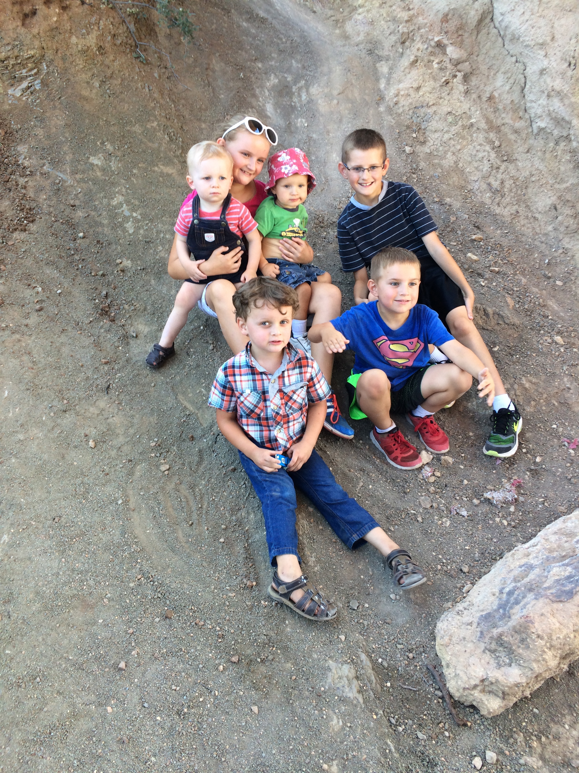 The Sprague and Brinkerhoff cousins. We went for an afternoon hike together in the hills near Ft. Collins.