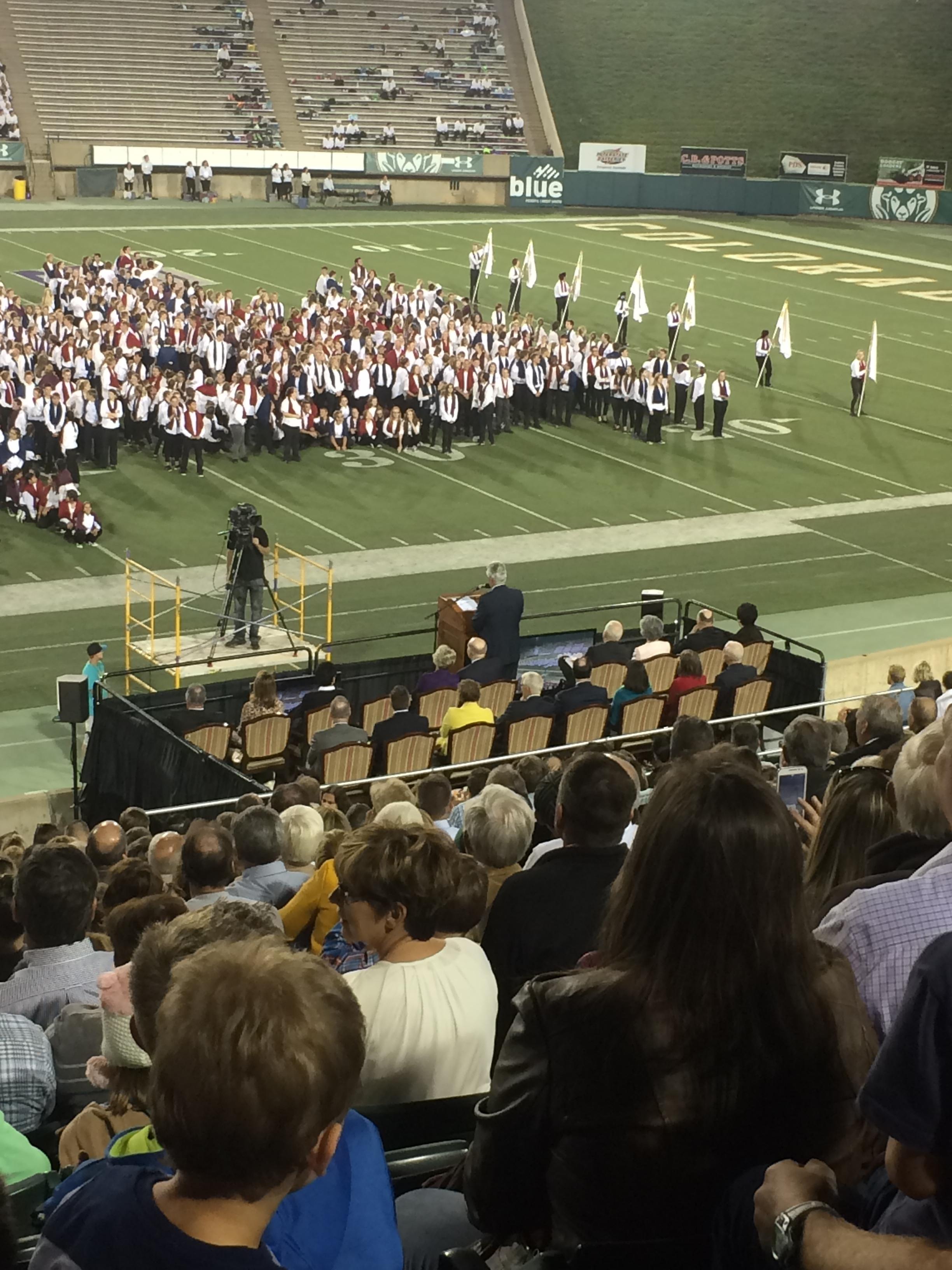 President Uchtdorf! Elder Renlund is seated right behind him.