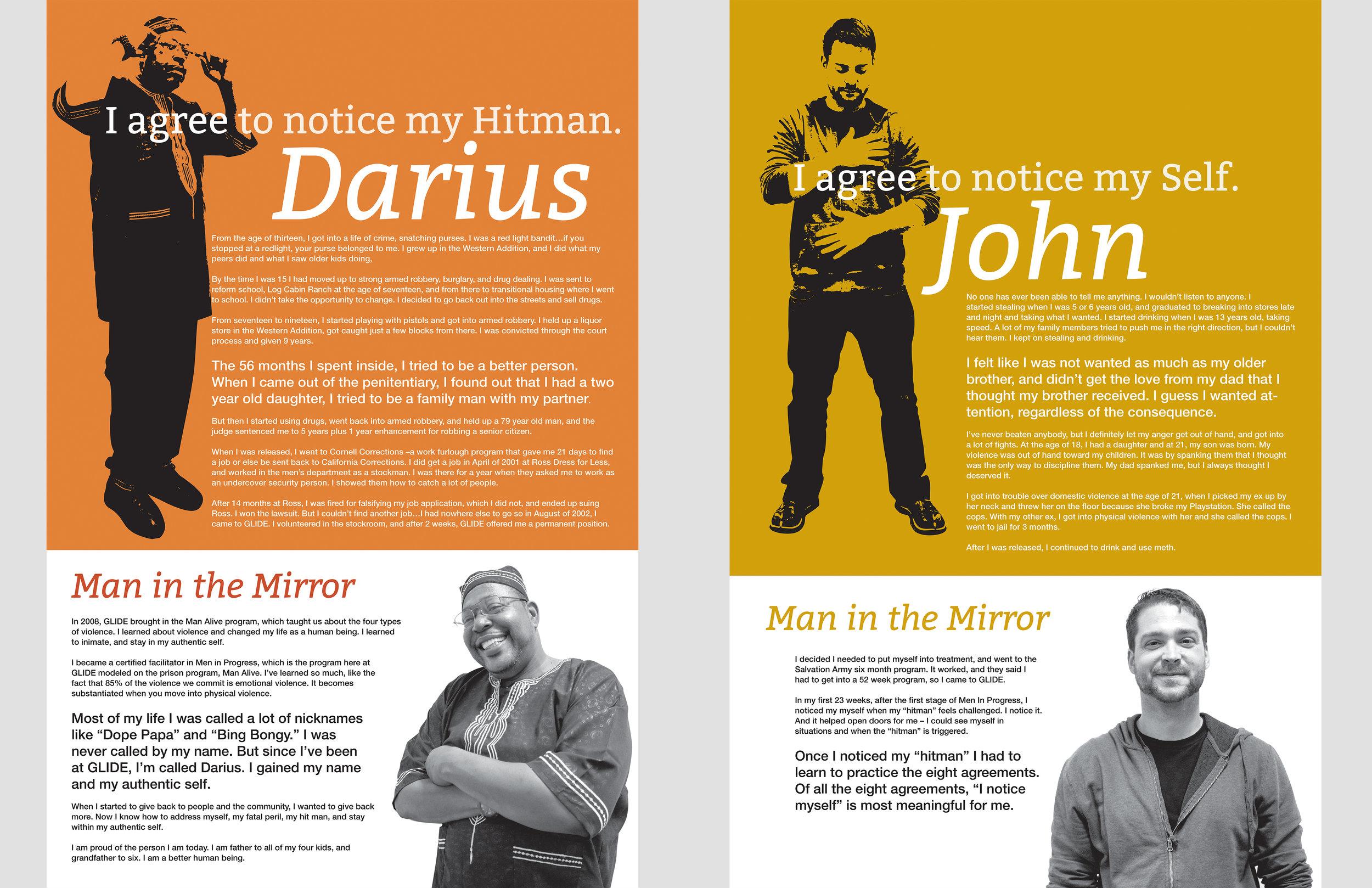 Glide Foundation : Men In Progress workshop posters