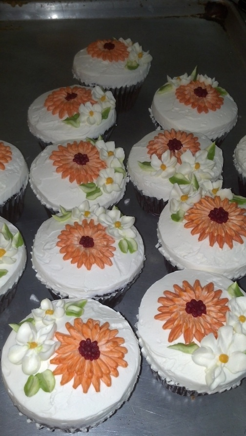 Vanilla Buttercream with Flowers