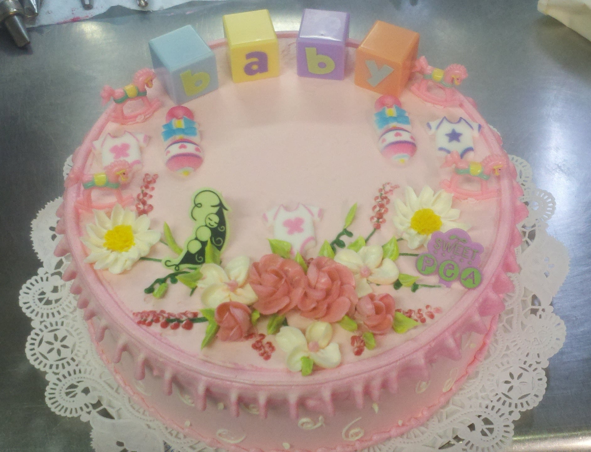 Baby Shower Cake (Example #5)