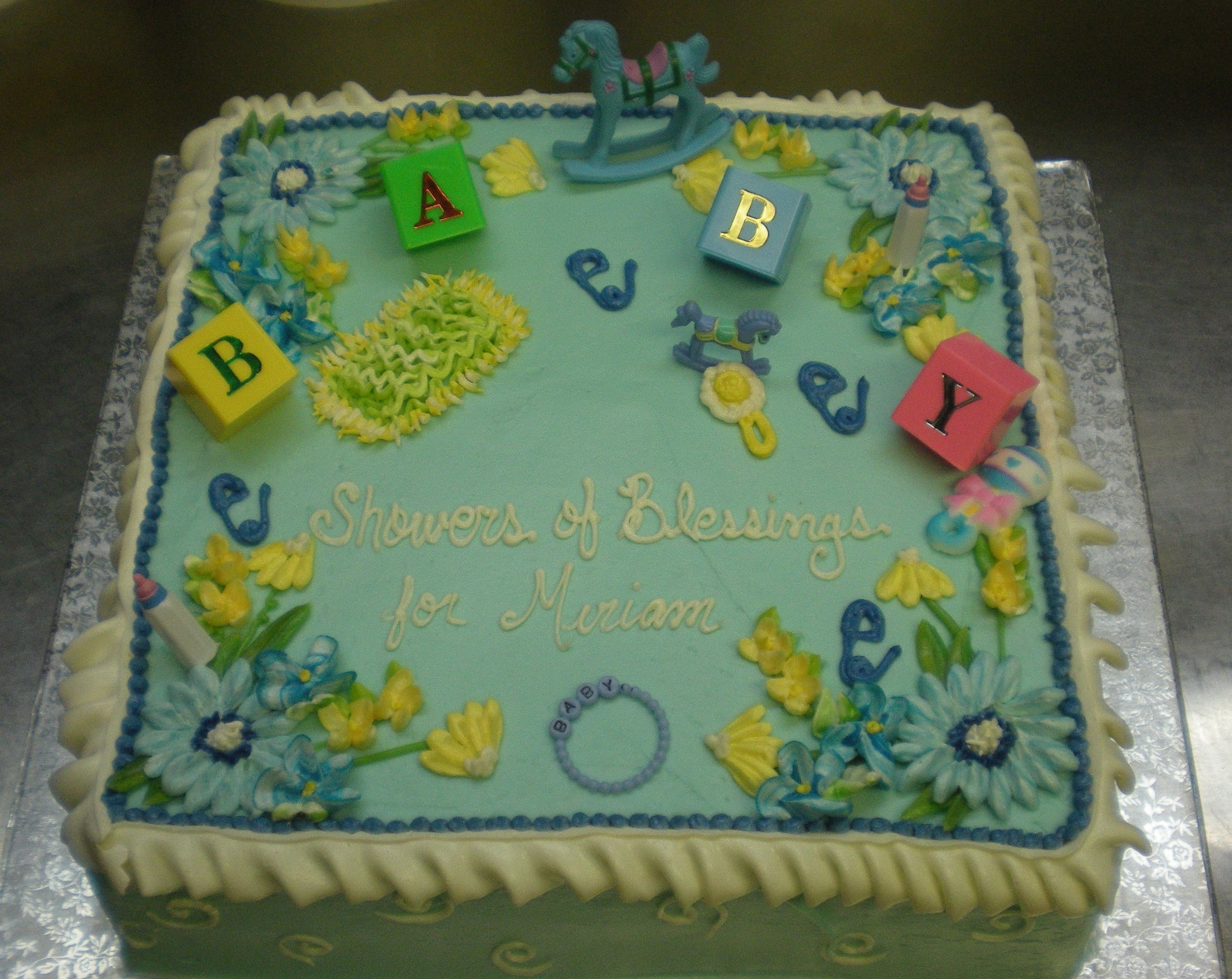 Baby Shower Cake (Example #1)