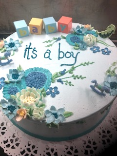 Baby Shower cake (example #2)