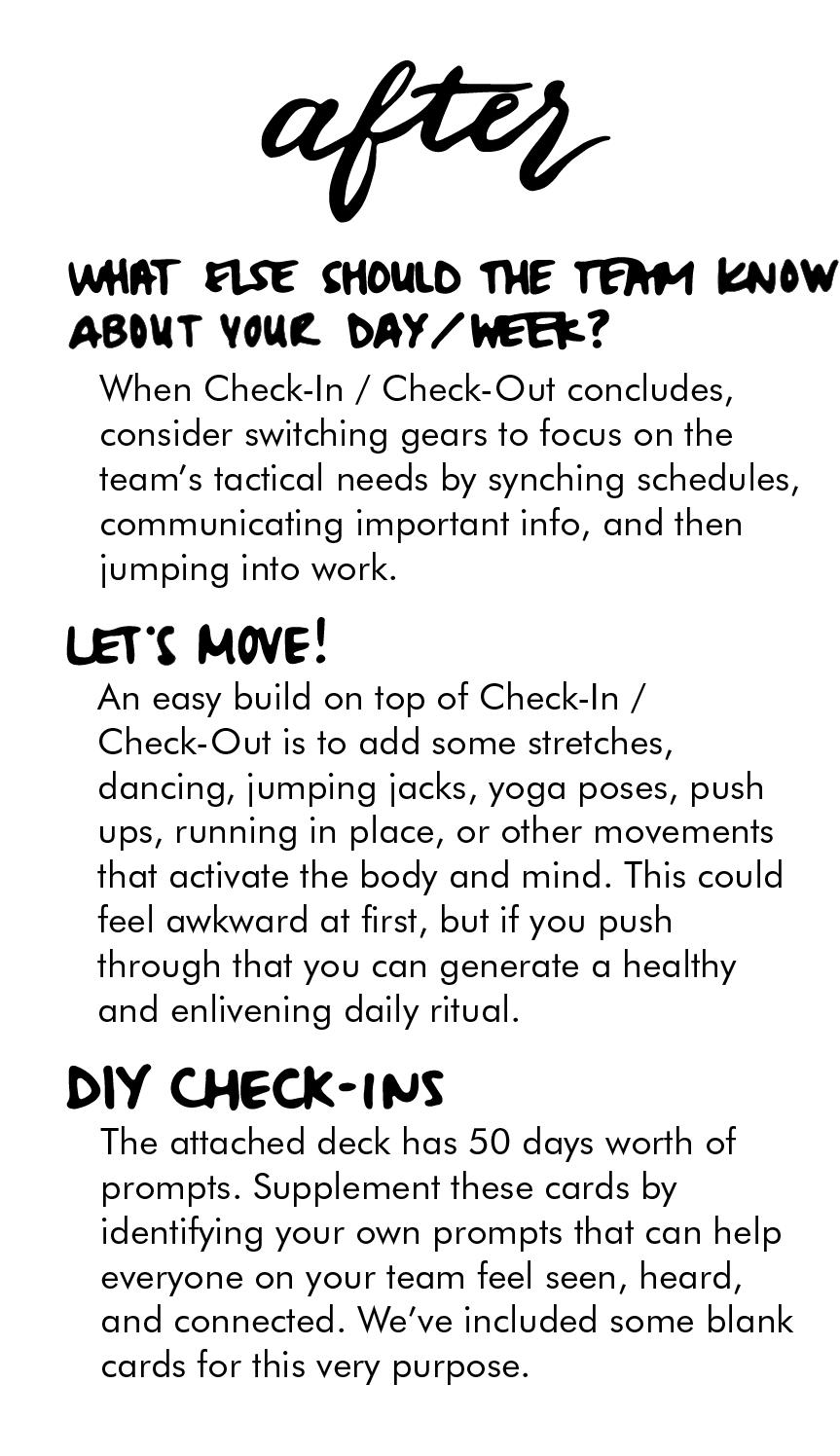 Mini instructions booklet
