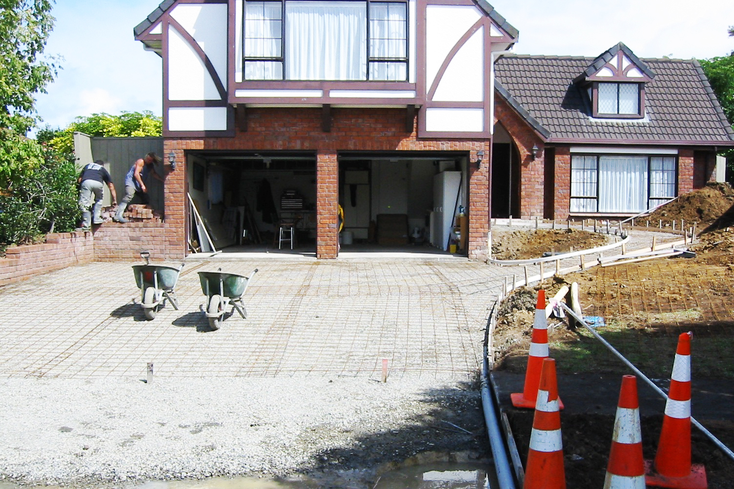 Preparation for laying new driveway