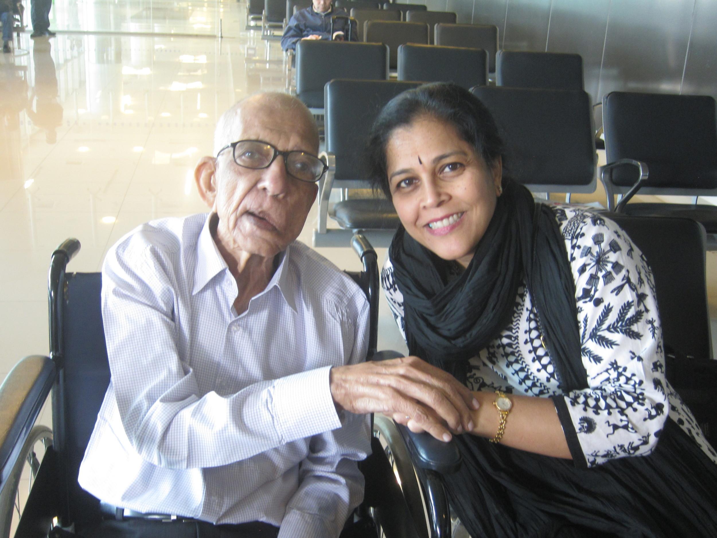 Kalpana with Daddykins. February 2, 2014.