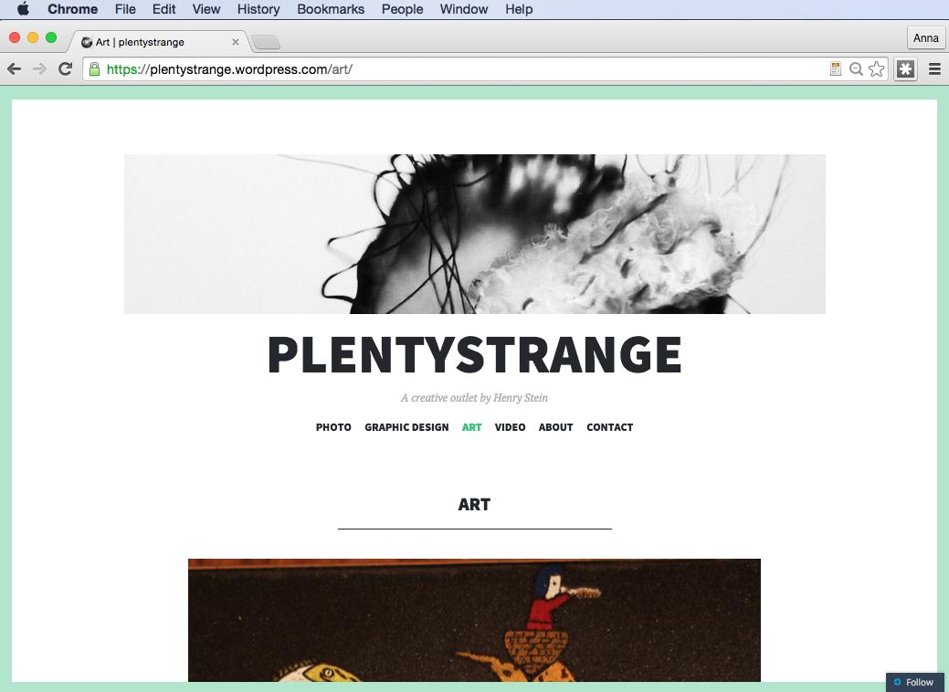 Digital Foundation (Fall 2014) - Website Portfolio Project