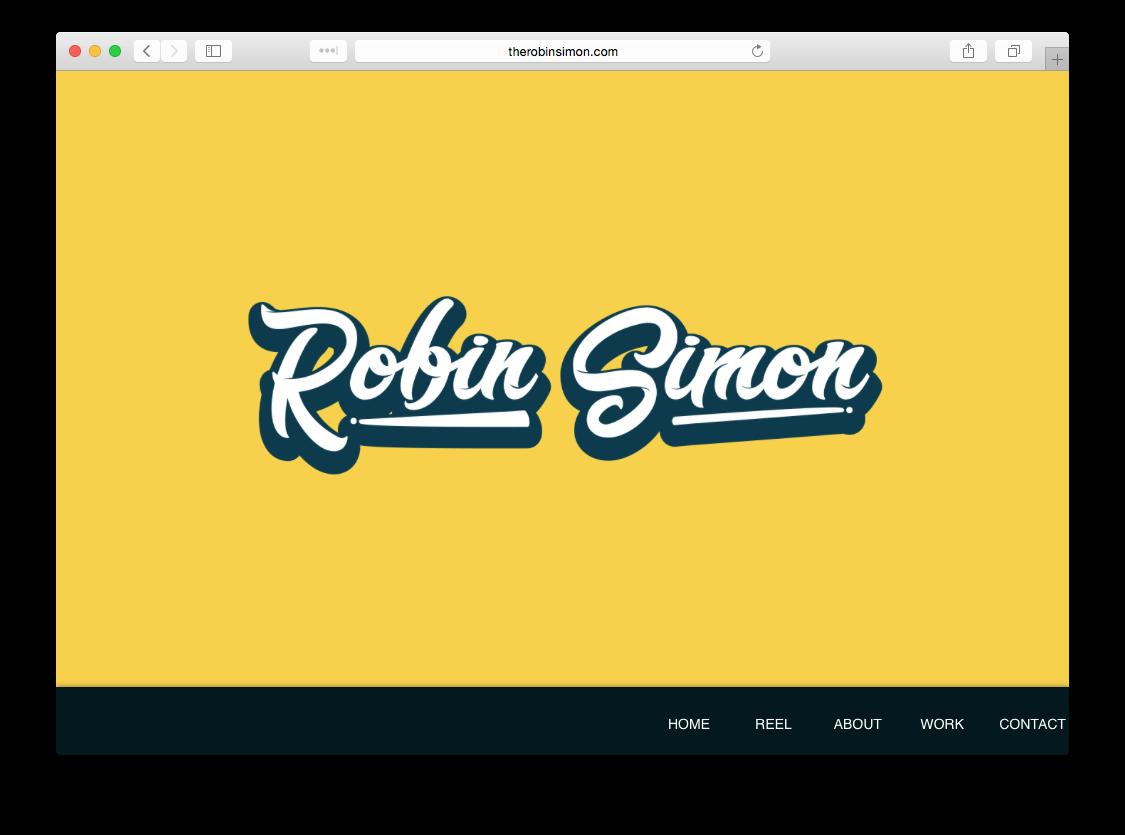 Robin Simon Portfolio Website