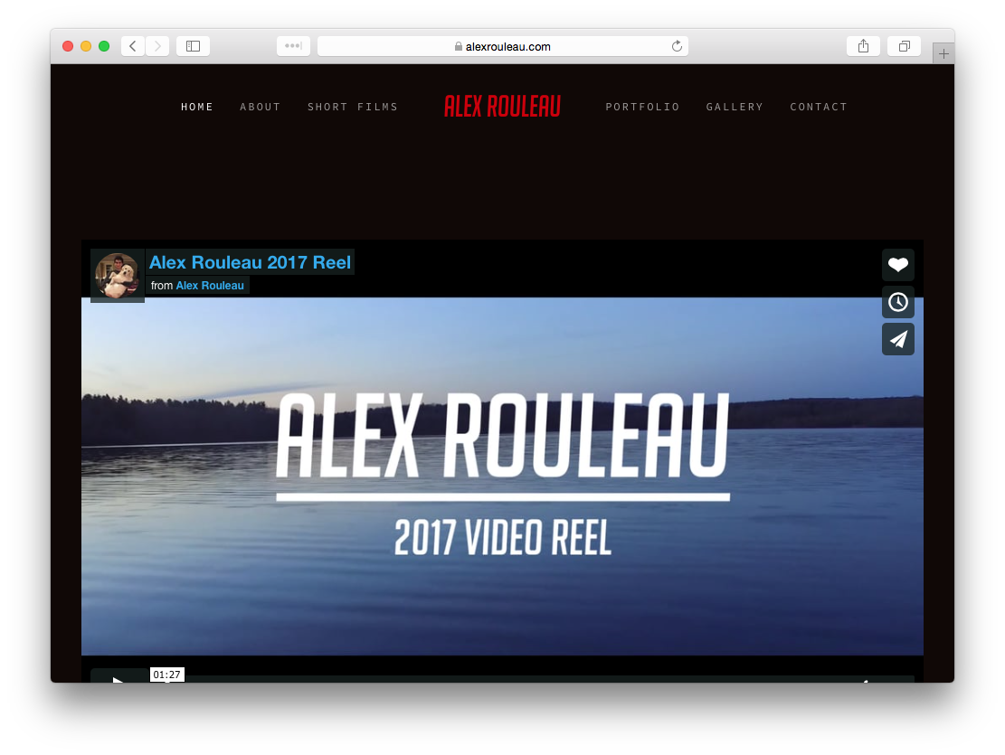 Alex Rouleau Portfolio Website