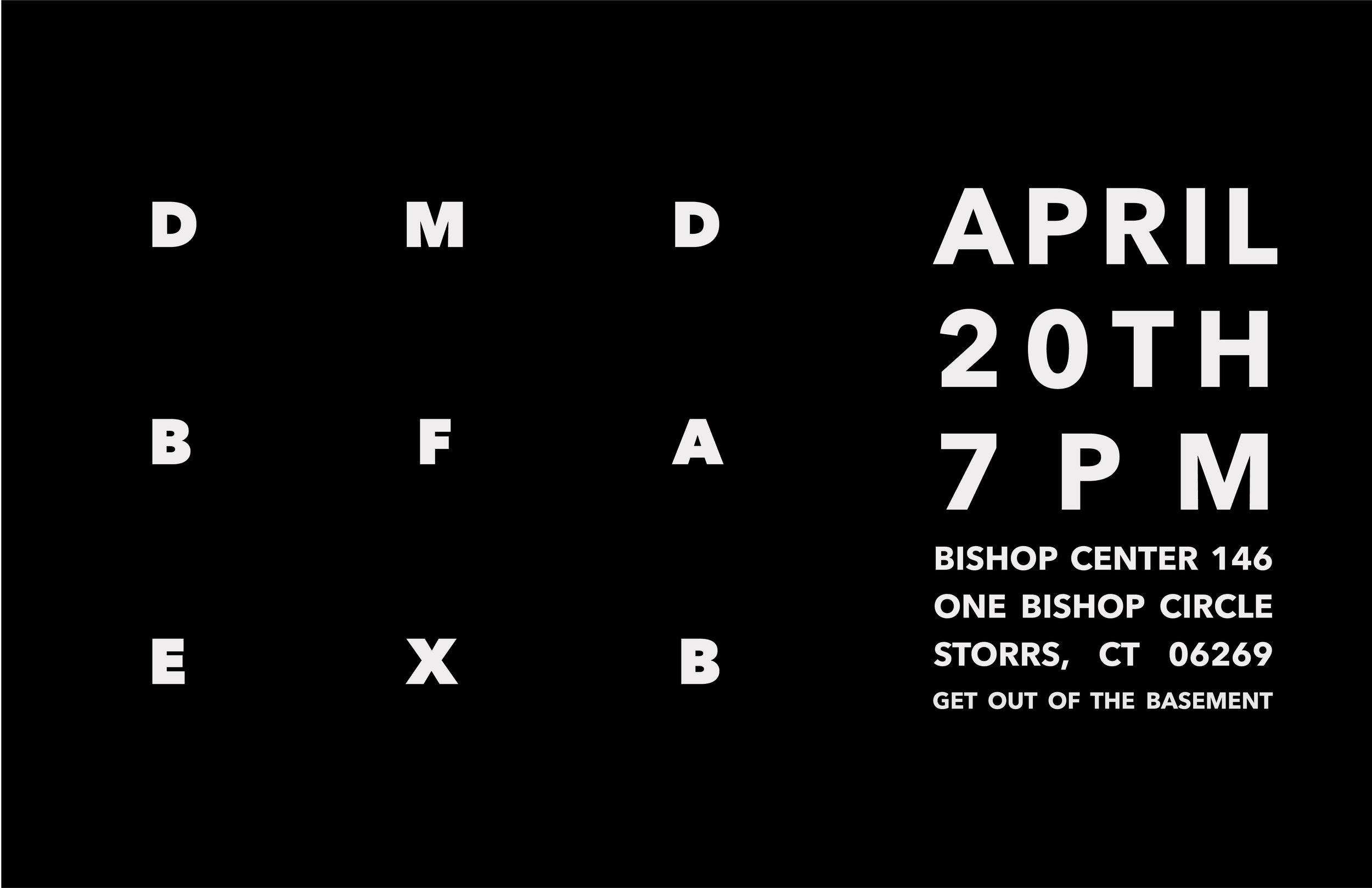 2017 DMD BFA Degree Exhibition Poster