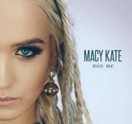 """Designed Album Artwork for Macy Kate single """"Miss Me"""""""