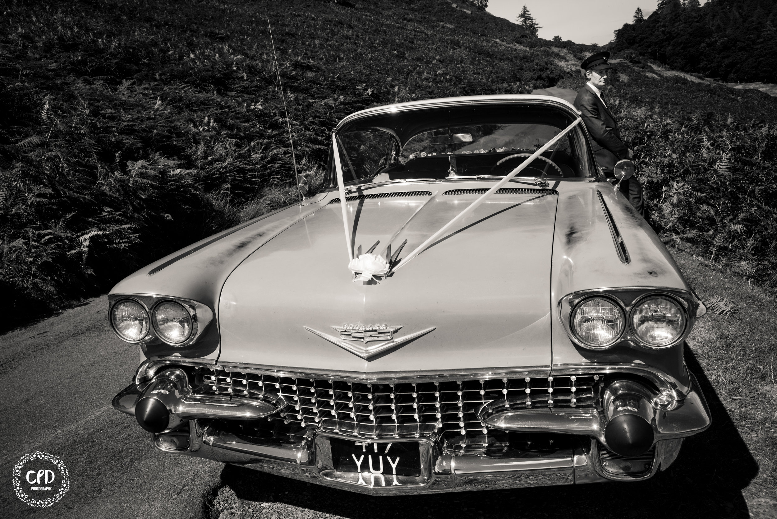 Black and White Image of The Cadillac