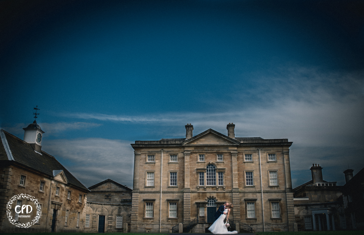 Bride and Groom with Cusworth Hall