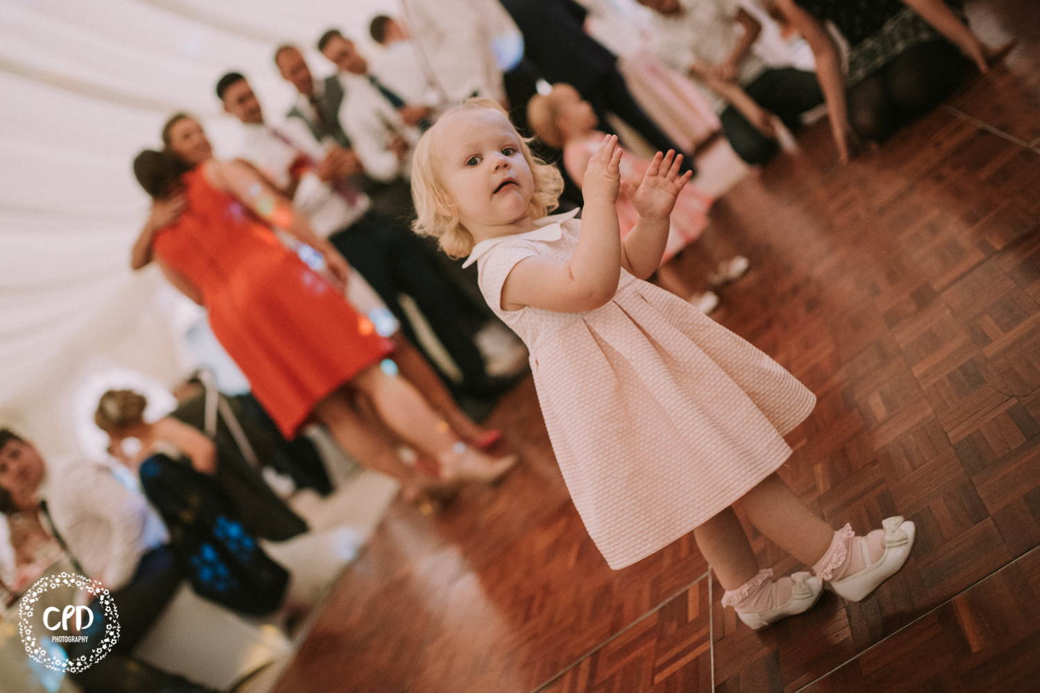 Little girl on the dance floor