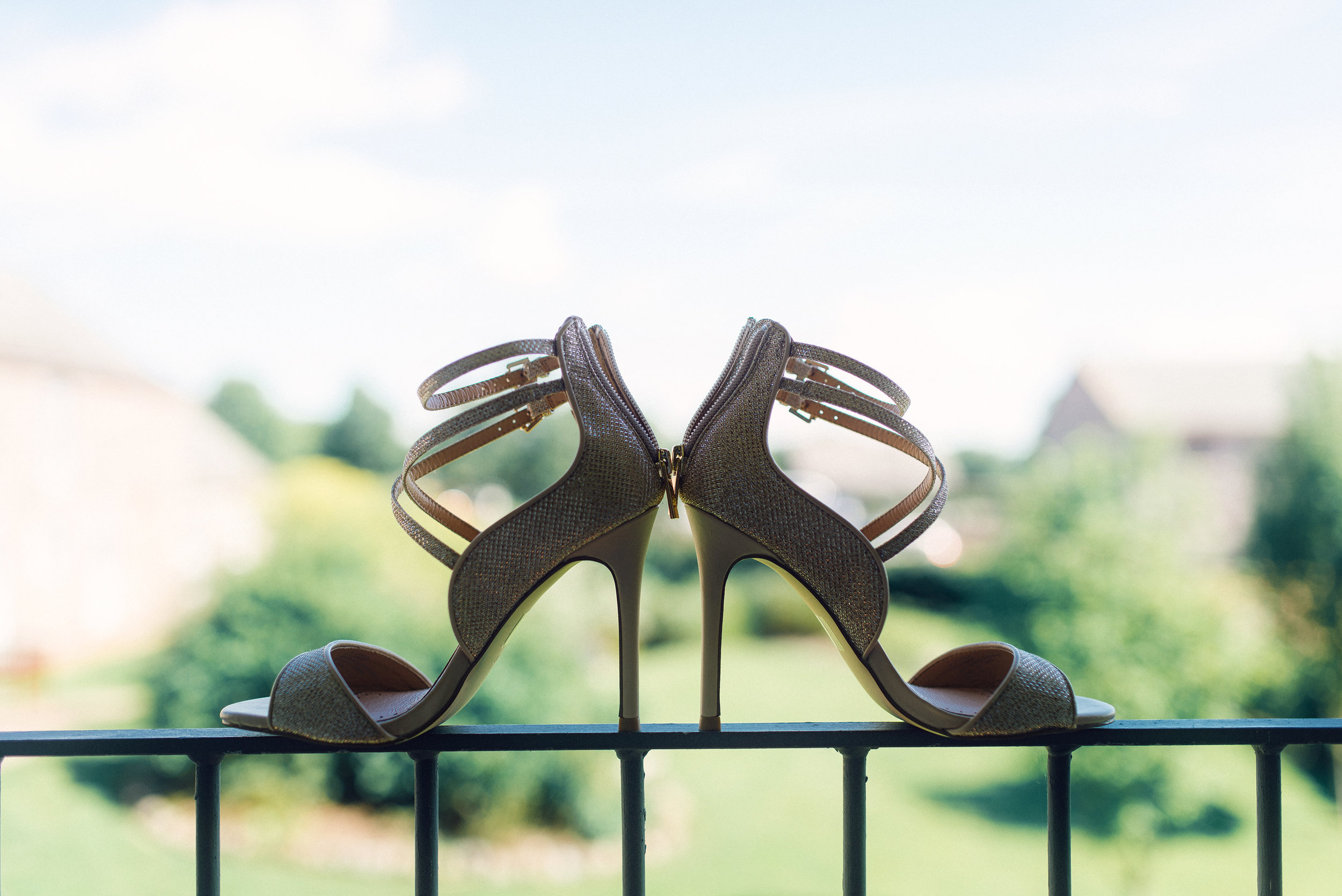Brides shoes in the window