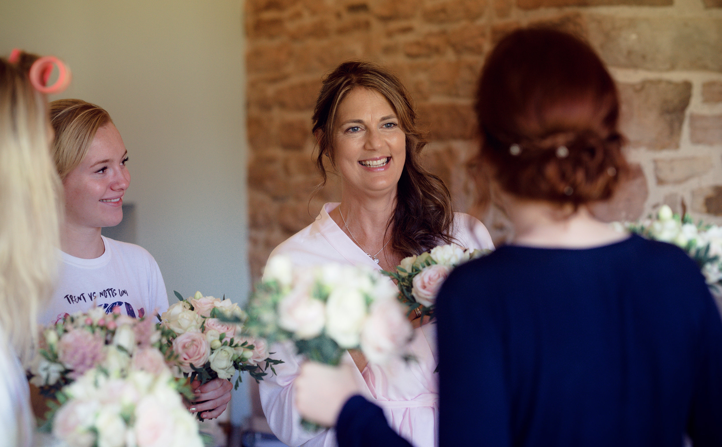 The mother of the bride having a good laugh