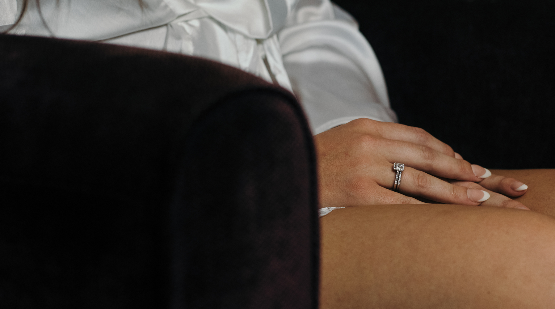The brides engagement ring