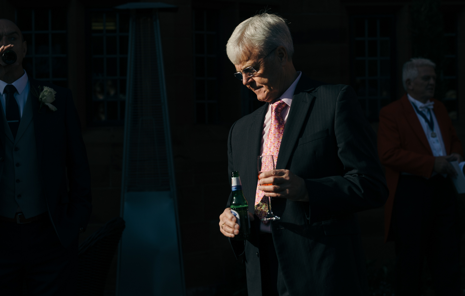 A male guest during the drinks reception