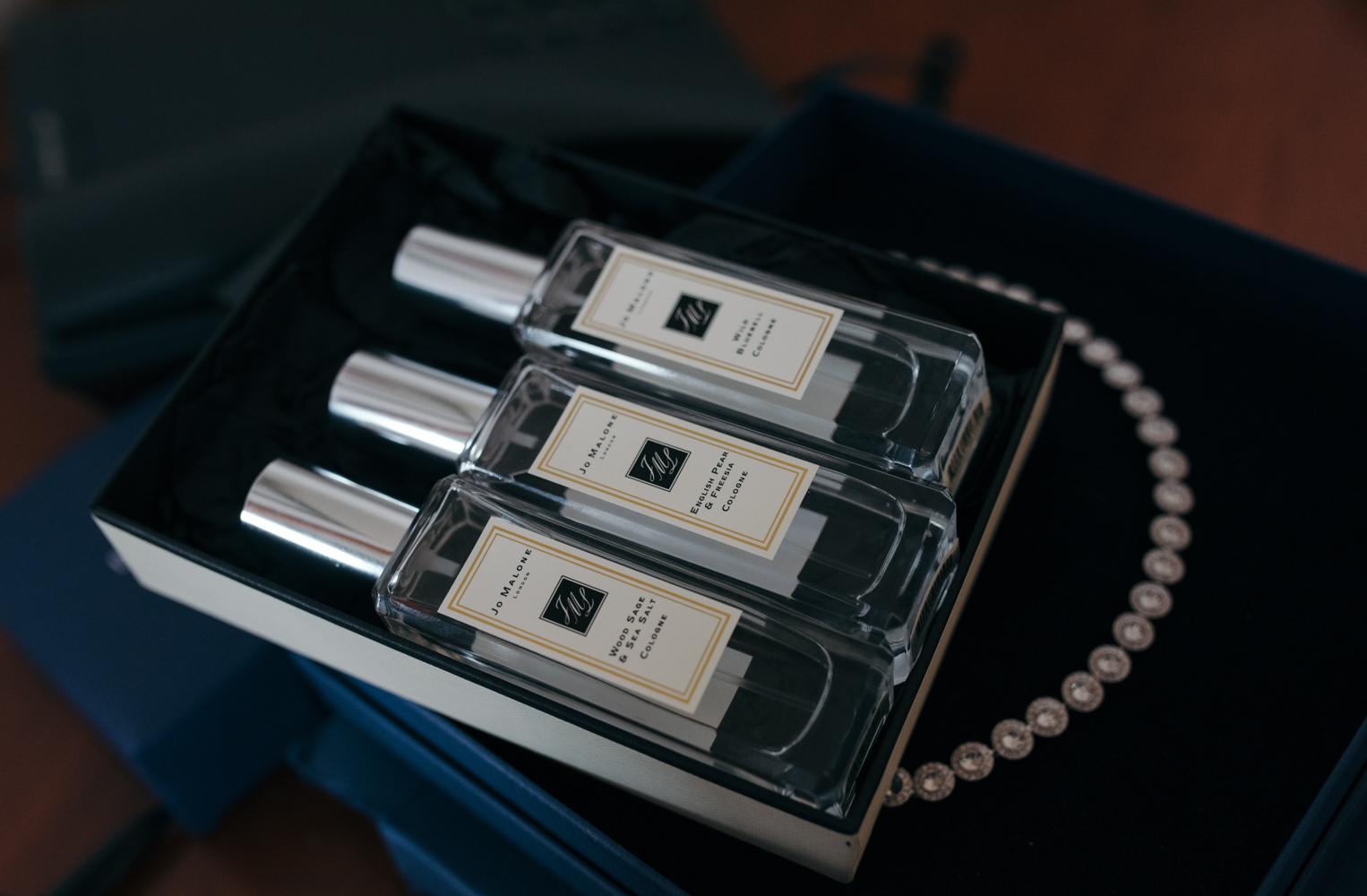 Joe Malone perfume for the bride and bridesmaids