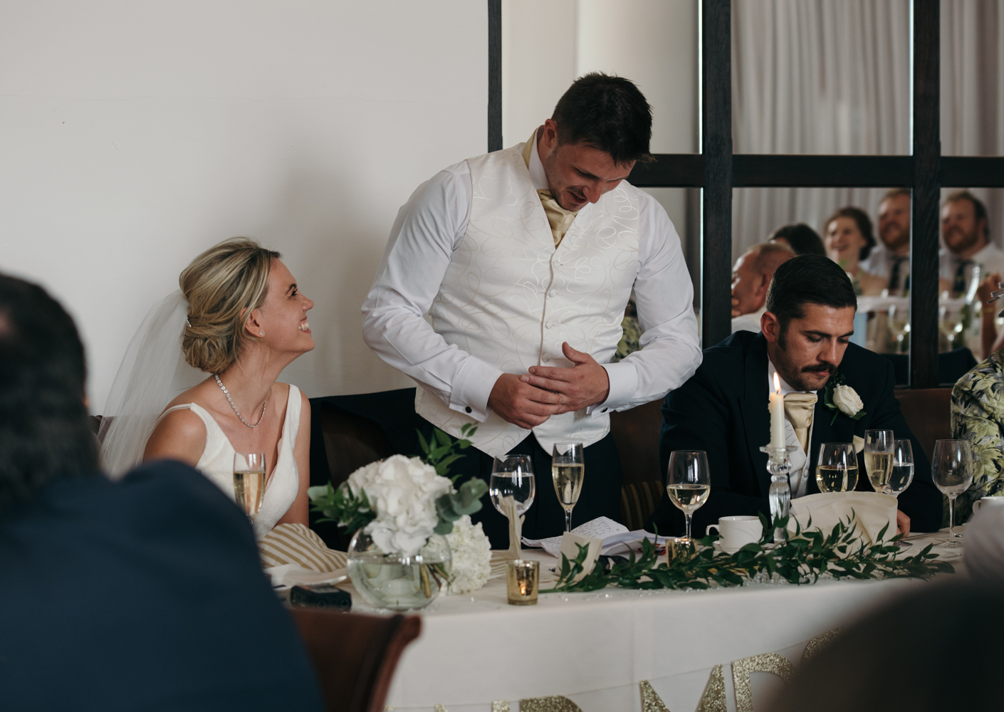 The groom making his speech