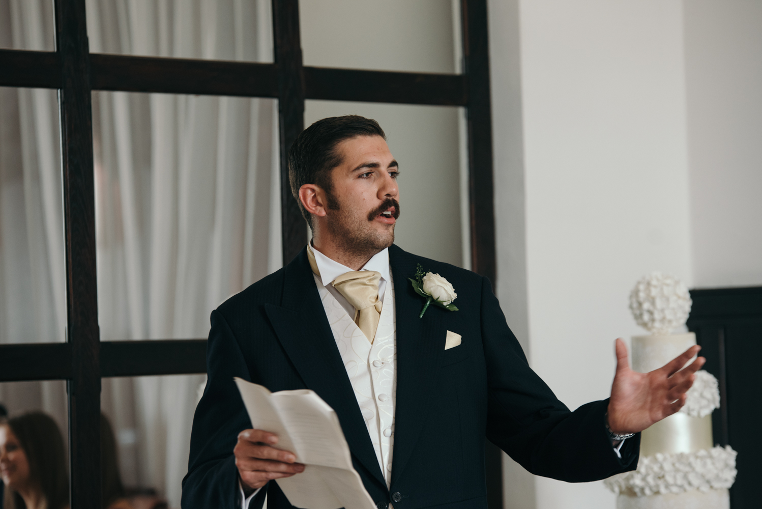The best man making his speech