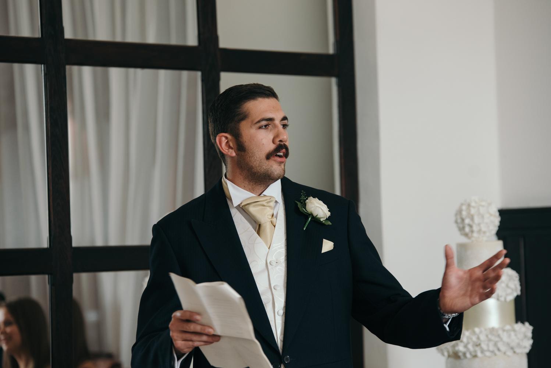 The best man making his speech