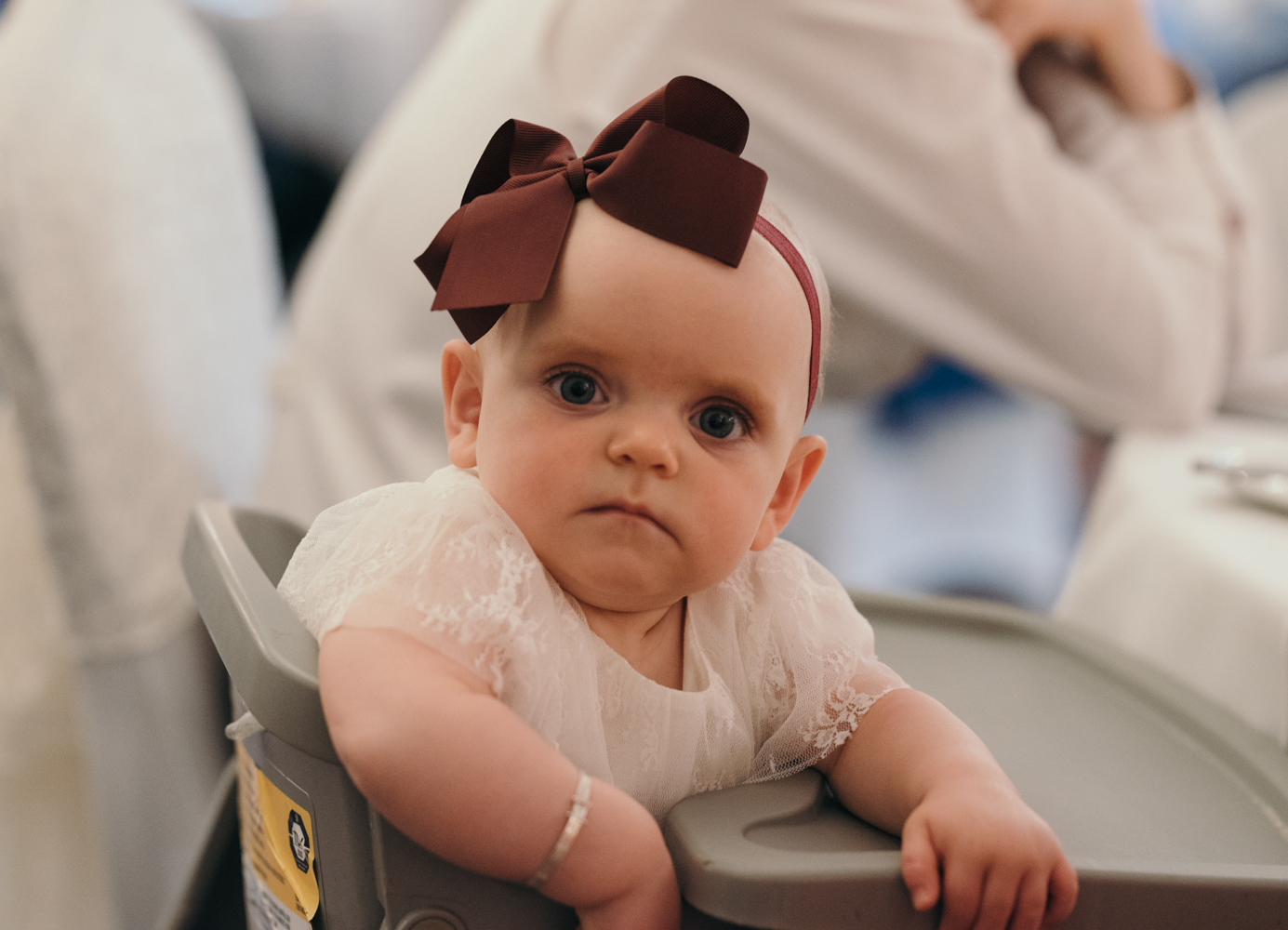 One of the youngest guests does not quite know what to make of my camera