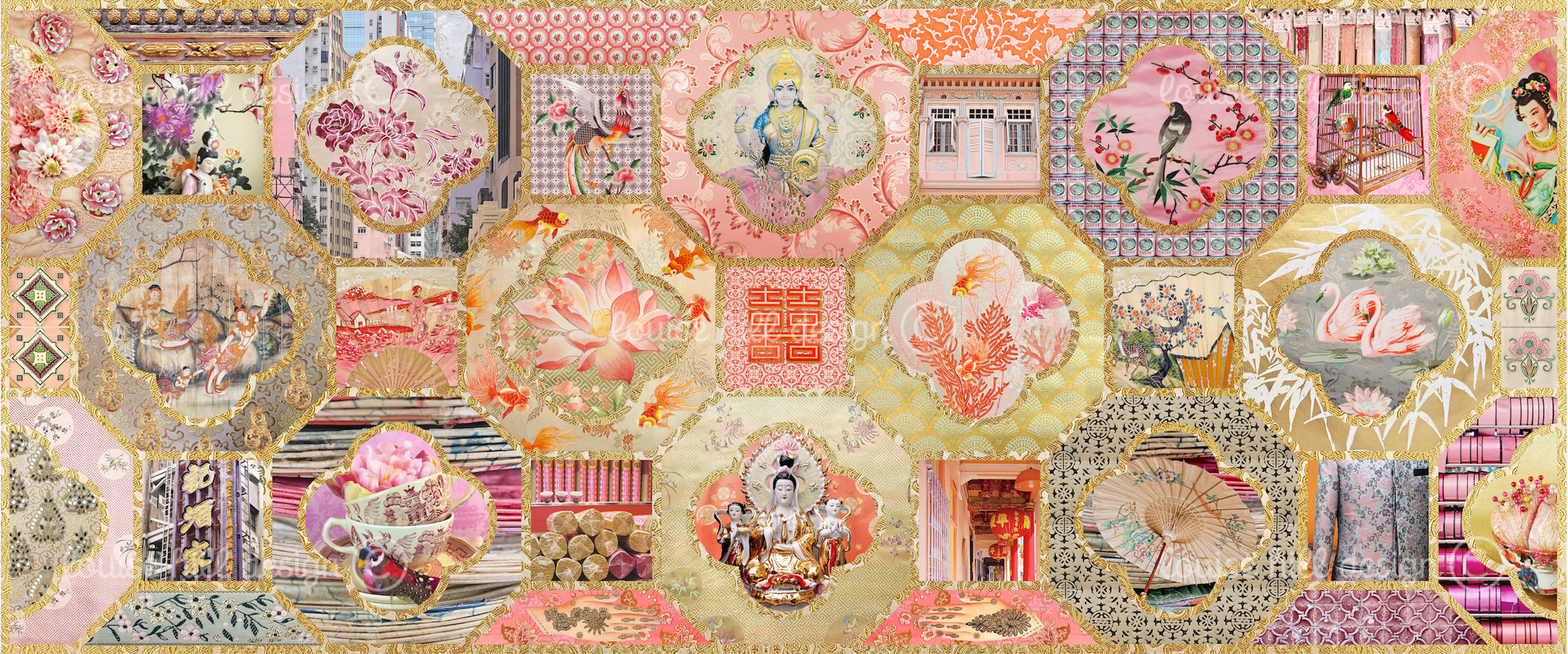 CHINOISERIE IN GOLD & BLUSH PINKS
