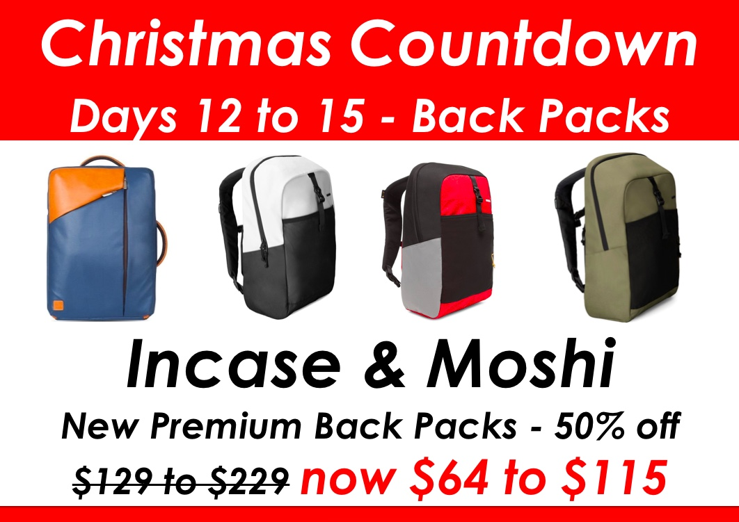 THE MOSHI / INCASE OFFER HAS BEEN EXTENDED TO THE 18TH OF DECEMBER.