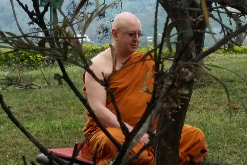 """MONK EXPELLED OVER FEMALE ORDINATION   Ajahn Bhikkhu Brahmavamso is being honoured for helping empower women in his faith, including the ordination of the first Buddhist nuns — known as Bhikkhunis — in Australia in 2009.    PHOTO:  Ajahn Bhikkhu Brahmavamso helped four women become Bhikkhunis. (Supplied: Buddhist Society of Western Australia)   He has been appointed a Member of the Order of Australia for services to Buddhism and gender equality.  """"There were four very fine Australian women who wanted to become Bhikkhunis and so I did the ordination for them.""""  As a result, he was expelled from Thai Forest Tradition of Buddhism to which he had belonged.  He said it was a sacrifice he was willing to make."""