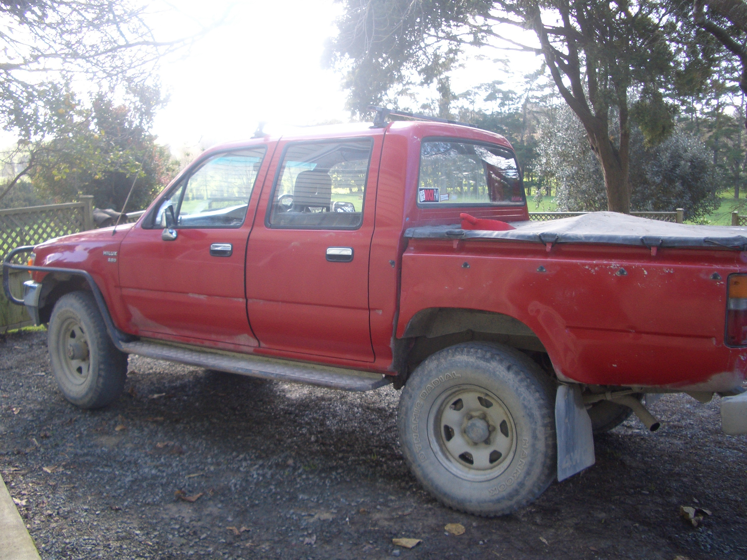 The famous ute in Sounds of the Country. Trouble was, every time Farmer Dave started the engine the dogs would all start barking. You can hear them on the CD. We kept a few of them in just for fun :-)